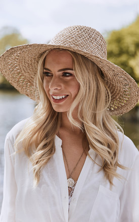 Natural Dominican Straw Dome Hat by Lack Of Color Product photo
