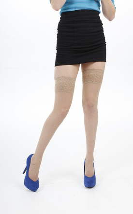 Lace Top Hold Ups by PM TIGHTS