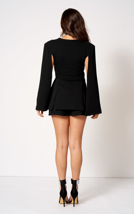 Cape Sleeve Blazer Co-Ord in Black by Club L London