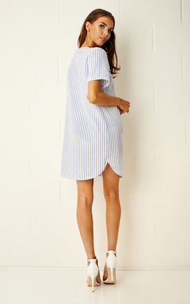 Martinique Blue Stripe Longline Dress by Frontrow Limited