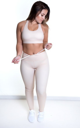Extra High Waisted Leggings Nude by Sculpt Activewear Product photo
