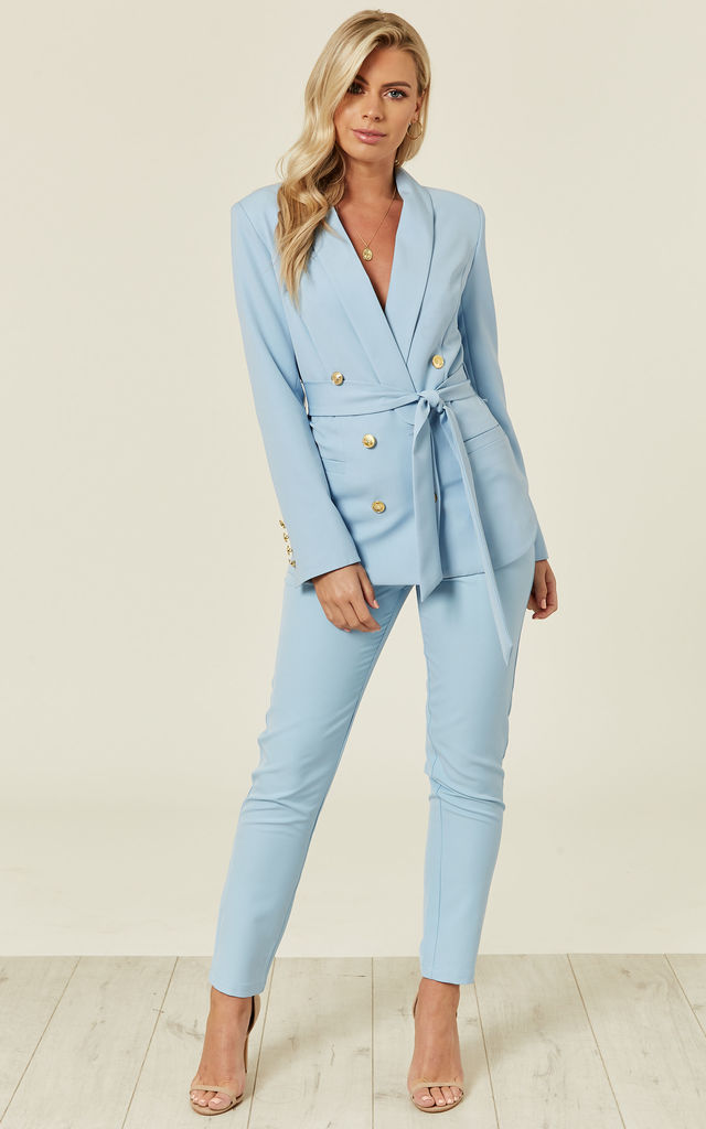 Sky Blue Tailored Trouser by UNIQUE21