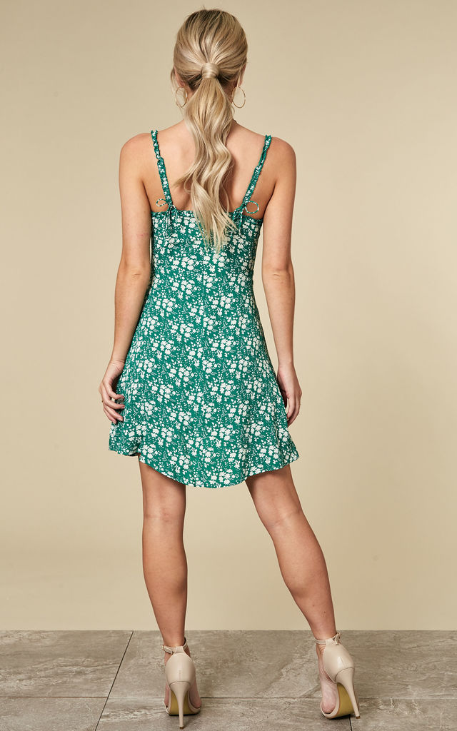 GREEN ZAMIRA BUTTON FRONT TANK DRESS by For Love And Lemons
