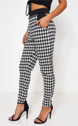 Elisa Black & White Dogtooth Trousers by The Fashion Bible