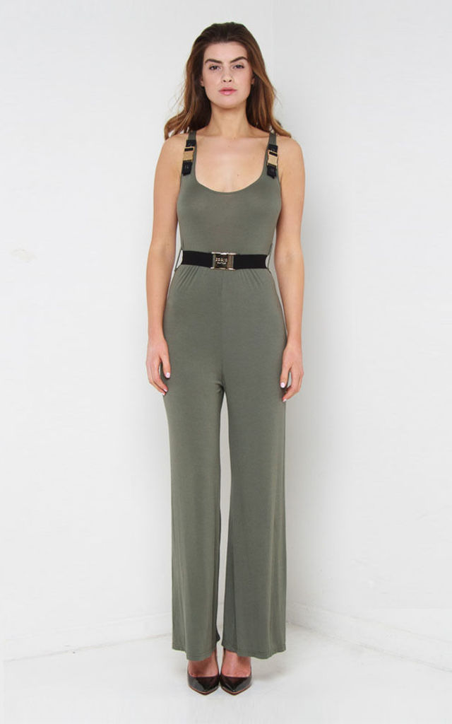 Tyra Jumpsuit Khaki by So & Jo Boutique