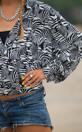 Ruth Zebra Print Cotton Double Breasted Festival Shirt by Krissyfied Boutique