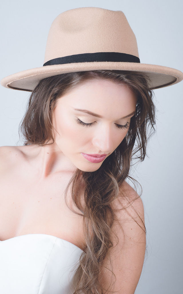 Camel classic black band fedora by Kate Coleman