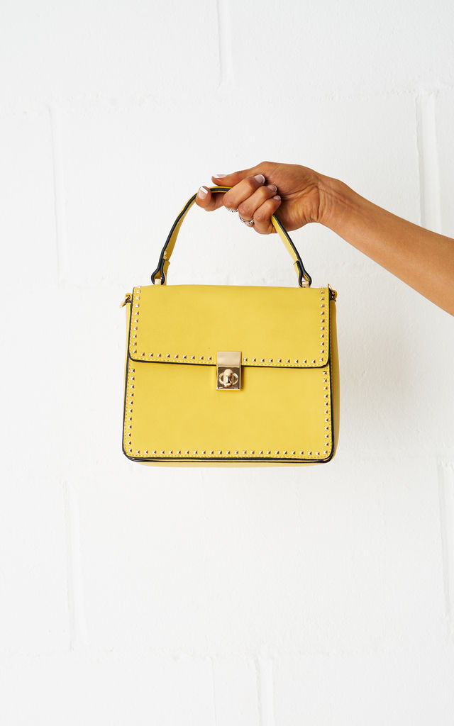 Belindya Mini Tote Bag In Yellow by Frontrow Limited