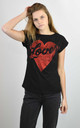 BLACK T-SHIRT WITH GLITTER HEAR LOVER PRINT by Lucy Sparks
