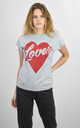 GREY T-SHIRT WITH GLITTER HEAR LOVER PRINT by Lucy Sparks