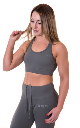 SSS Sports Bra Grey by Sculpt Activewear