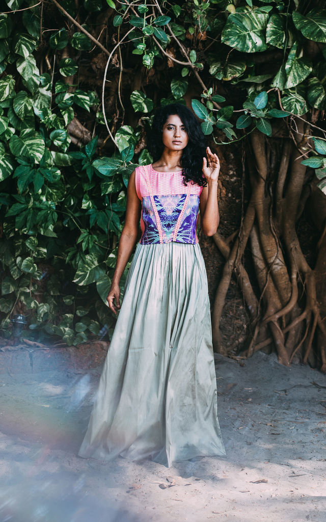 Mint green maxi skirt by Silence Beyond Syllables