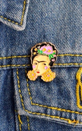 Frida Kahlo Brooch Pin by Helix and Felix