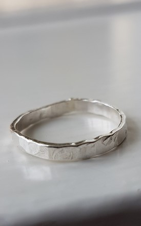 Sterling Silver Rustic Stacker Ring by DOLLYS Jewellery Design