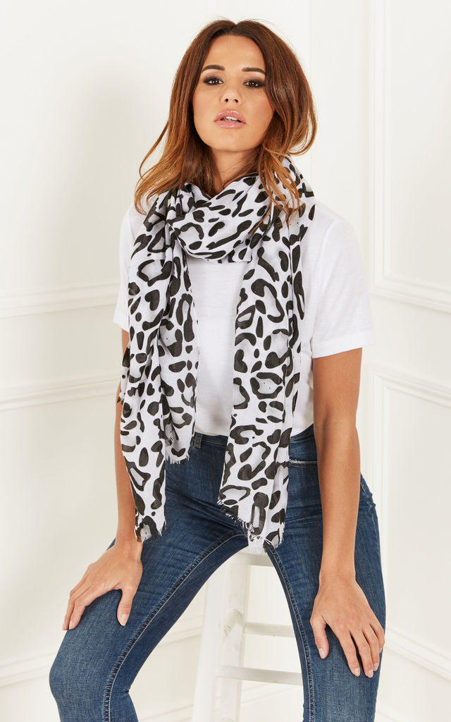 Black Cheetah Print Scarf by Bella and Blue
