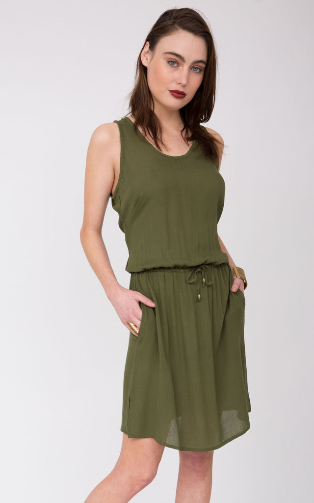 Rebecca Beach Loving Dress Khaki by likemary