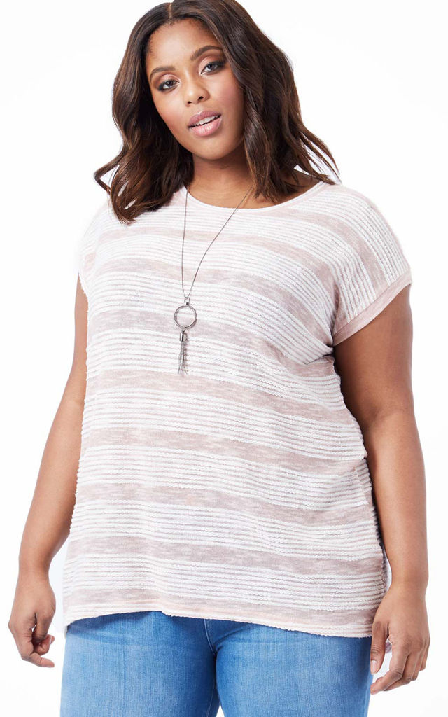 DUSHA – Necklace Detail Oversized Pink Top by Blue Vanilla