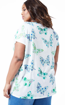DYANI – Butterfly Print White Top by Blue Vanilla