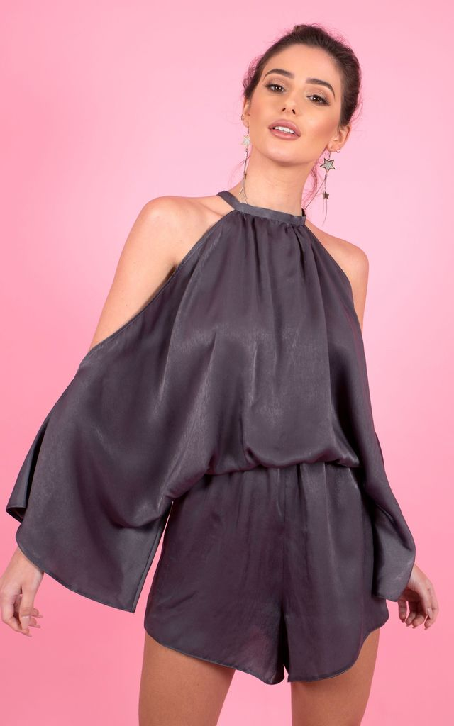 ALENA OFF SHOULDER PLAYSUIT by Cheeky's