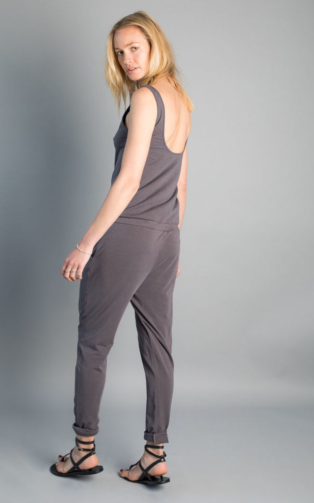 Papatoia sustainable jersey jumpsuit with low back by VILDNIS