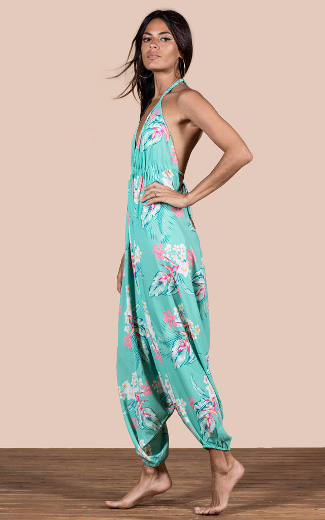 GENIE JUMPSUIT IN GREEN TROPICAL image