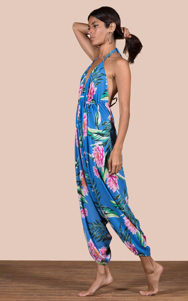 GENIE JUMPSUIT IN BLUE LOTUS TROPICAL image