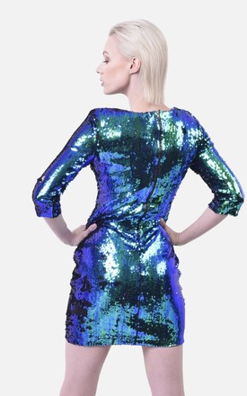 TWO TONE SEQUIN DRESS by Moth Clothing