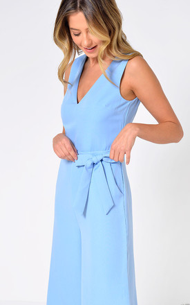Donna Culotte Jumpsuit in Pale Blue by Marc Angelo