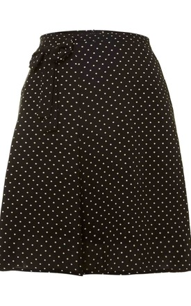 Ditsy Bow Detail Skirt by Cutie London