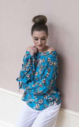 Lily Floral Print Boho Blouse by COCOOVE Product photo