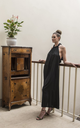 Lullah Halter Maxi Dress In Black by COCOOVE Product photo