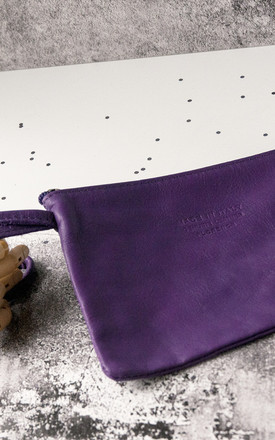 Purple Leather Wristlet by Grace and Valour
