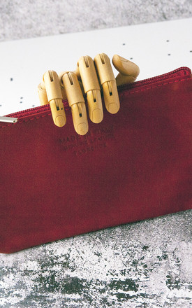 Red Zip Purse by Grace and Valour
