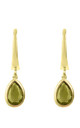 Pisa Mini Teardrop Earring Gold Peridot by Latelita