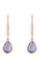 Pisa Mini Teardrop Earring Rose gold Amethyst by Latelita