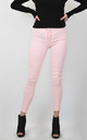 SKINNY JEAN LEGGINGS WITH LACE UP DETAIL in PINK by Lucy Sparks