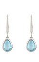 Pisa Mini Teardrop Earring Silver Blue Topaz by Latelita