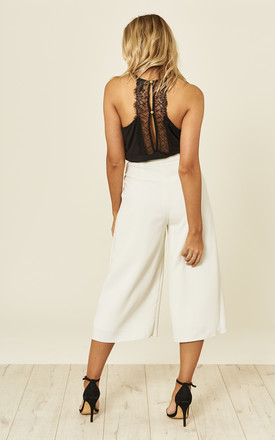 White Cropped Culottes by ANGELEYE