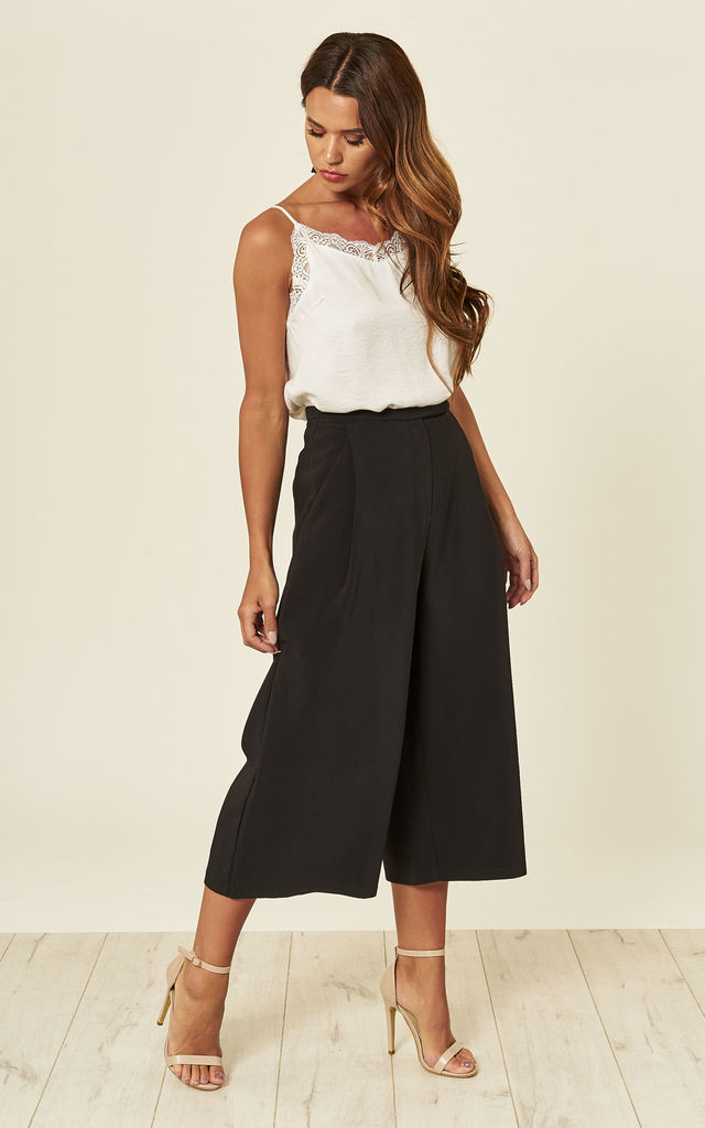 Black Cropped Culottes by ANGELEYE