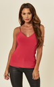 Red Kortney Low Back Cami Top by Pleat Boutique
