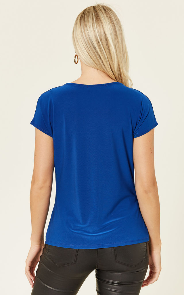 Cobalt Levi Cowl Neck Top by Havren