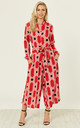 Culotte Shirt Jumpsuit Vintage Groove Red by Ruby Rocks