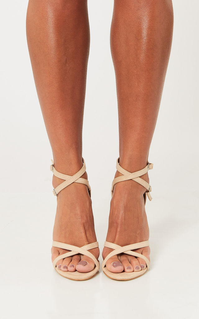 Nude Cross Strap Stiletto by Truffle Collection