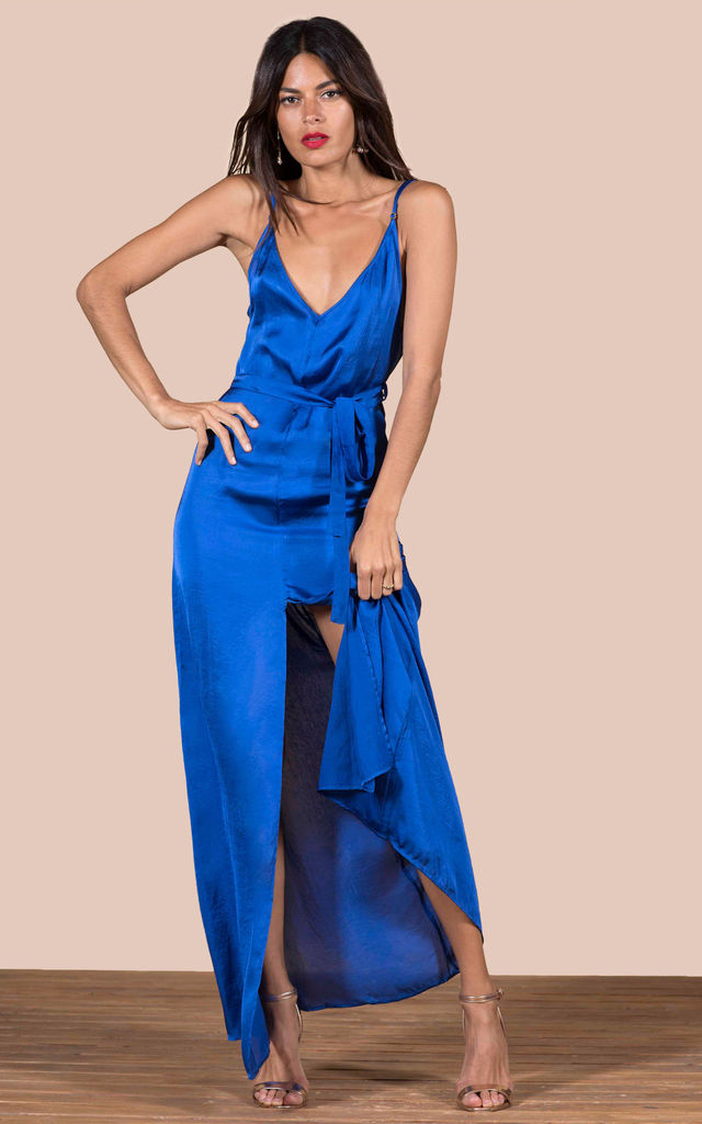 Sookie Slip Dress in Cobalt Blue image