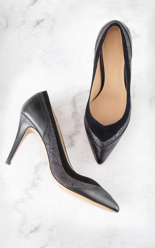Sparkling Black Heels by House of Spring