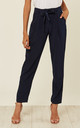 Belted Trousers in Navy by Zibi London