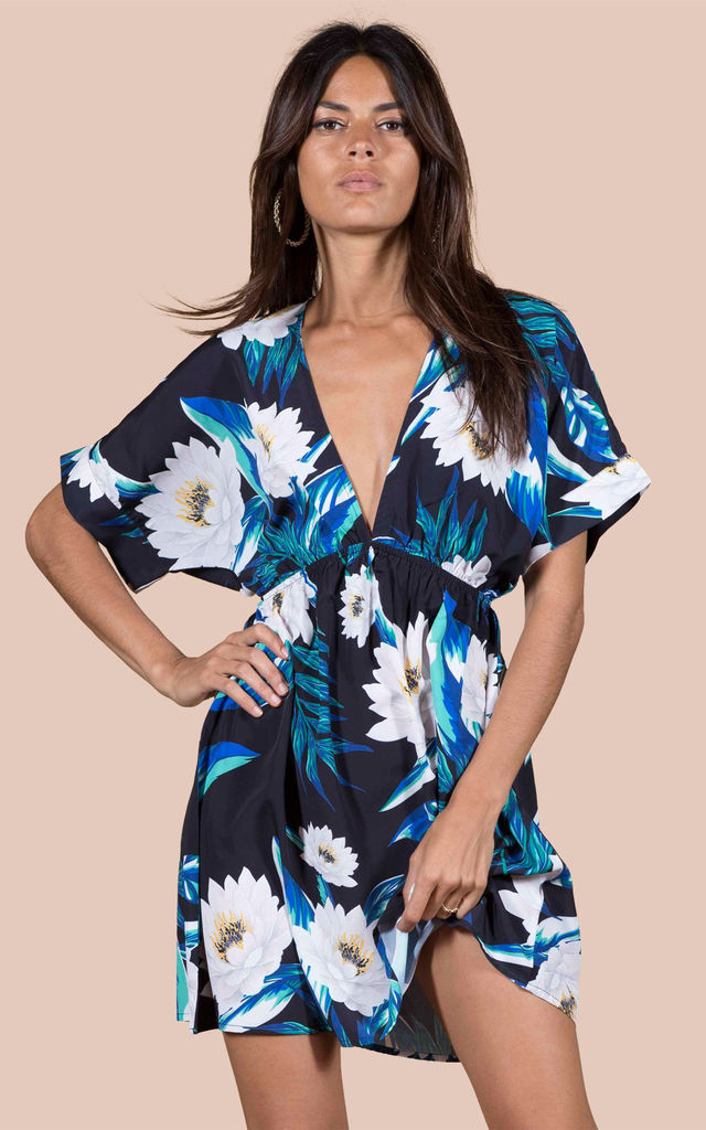 Milano Dress in Black Lotus Tropical image