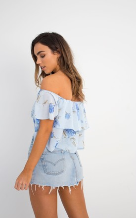 Blue Floral Off the Shoulder Summer Top by Wired Angel