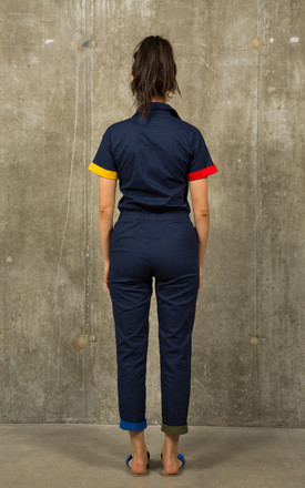 Navy Blue Overalls by stuffwithprints
