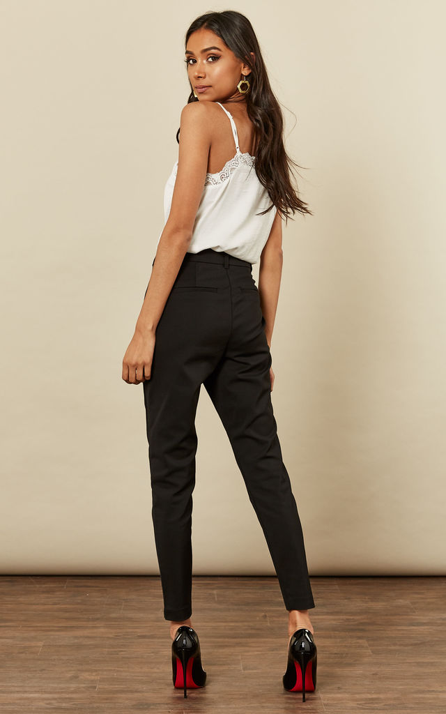 Black Tailored Trousers by VM